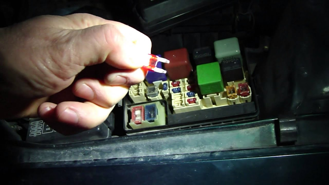 maxresdefault how to check fuses in toyota corolla year models 1996 to 2001 2004 Toyota Corolla Fuse Box at mifinder.co