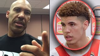 """Lamelo Ball Tells Reporter """"LAVAR KILLED MY CAREER! BBB WAS A SCAM"""" & LAVAR RESPONDS """"WATCH YOUR.."""""""