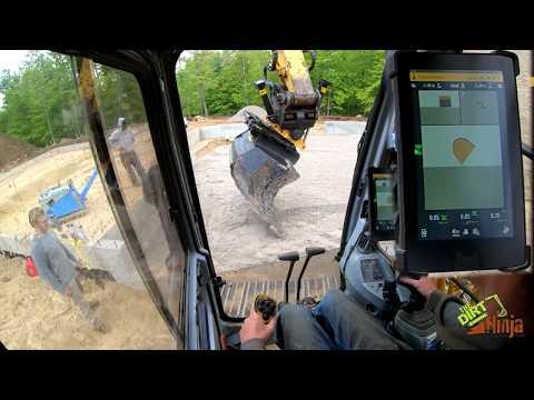Trimble Earthworks + Engcon Tiltrotator Precision Grading