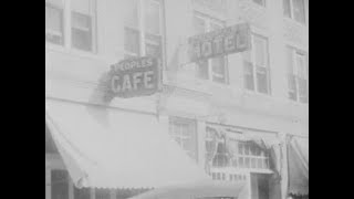 1925 Film Footage of the People's Hotel And Cafe, Muskogee Oklahoma