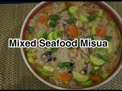 Paano magluto Seafood Misua Recipe - Pinoy Cooking