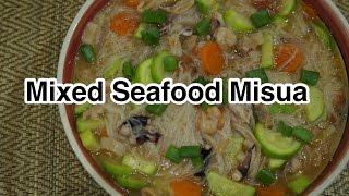 Filipino Tagalog - Seafood Misua Recipe - Pinoy Cooking
