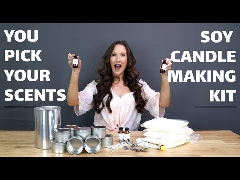 Pro Candle Making Kit for Making Soy Candles - PICK YOUR OWN FRAGRANCES!!
