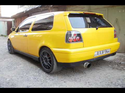 golf mk3 yellow tuning evolution from white stock youtube. Black Bedroom Furniture Sets. Home Design Ideas