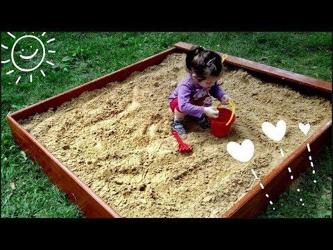 Бюджетная детская песочница своими руками