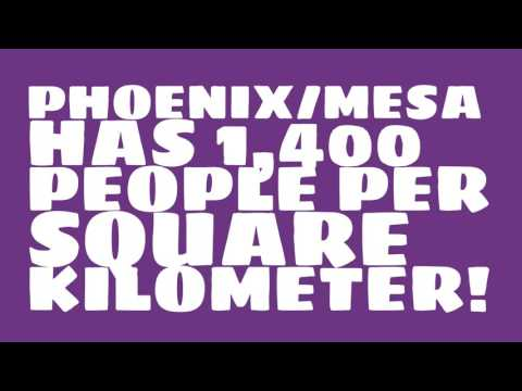 How does the population of Phoenix/Mesa rank?