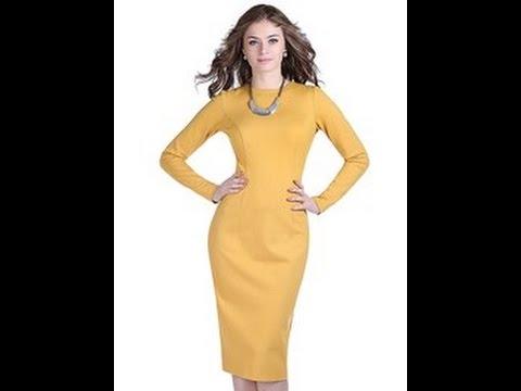 Платье с рельефами от проймы