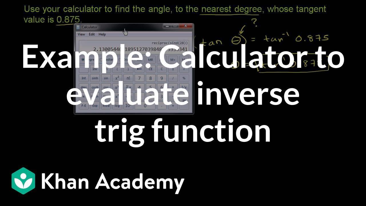 Inverse tangent calculator.
