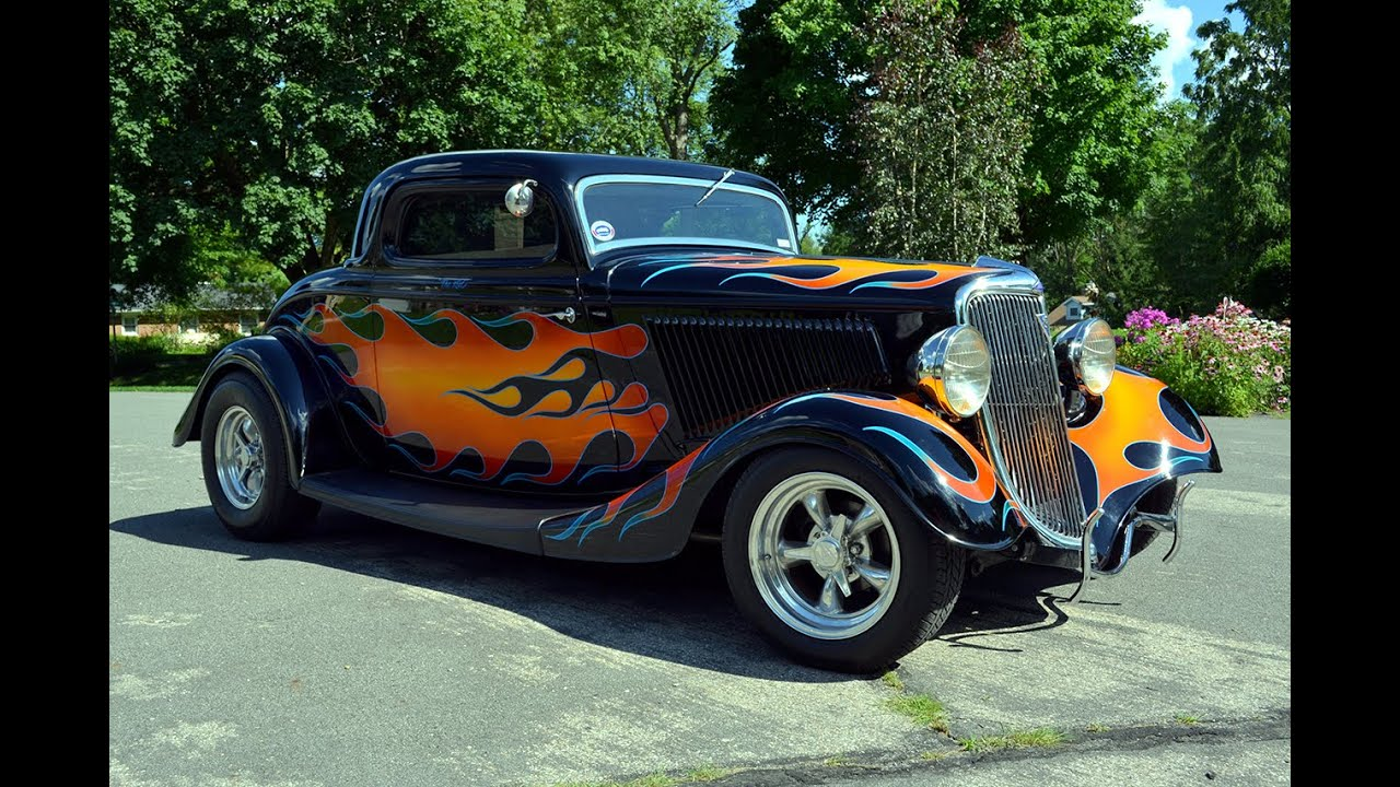 1934 ford coupe hot rod 383 stroker chevrolet v8 youtube. Black Bedroom Furniture Sets. Home Design Ideas