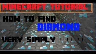 minecraft tutorial how to find diamond in minecraft cch tm kim cương trong minecraft đơn giản