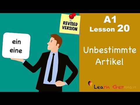 REVISED: A1 - Lesson 20 | Indefinite Articles in German | Unbestimmte Artikel | Learn German