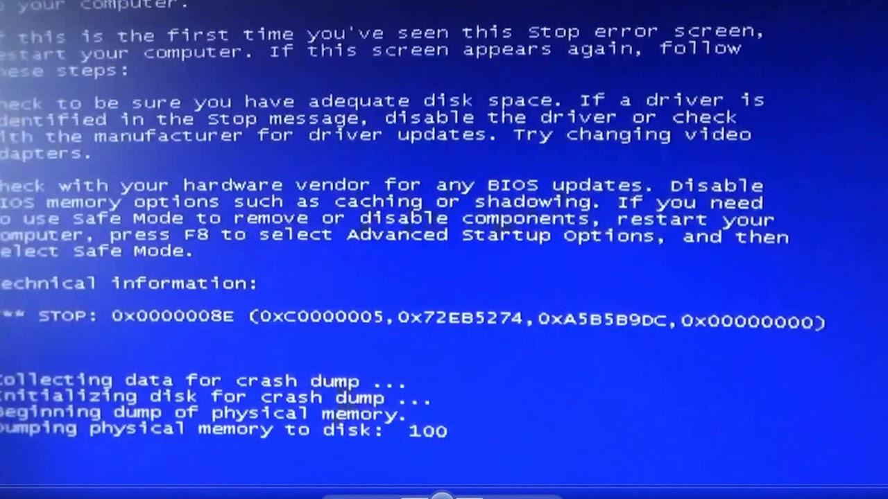 Синий экран смерти. - YouTube