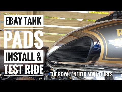 REA #7 | EBay 3M Gas Tank, Petrol Tank Knee Pads | Install & Test Ride | Royal Enfield Classic 500