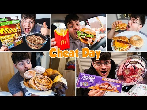12,000 CALORIE CHEAT DAY | Egg Waffles, Donuts, Burgers, Chocolate & much MORE...
