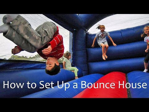 Thumbnail: Setting Up a Bounce House Yourself – Prepare Your Moon Bounce – Kids Party Bounce House Self Setup