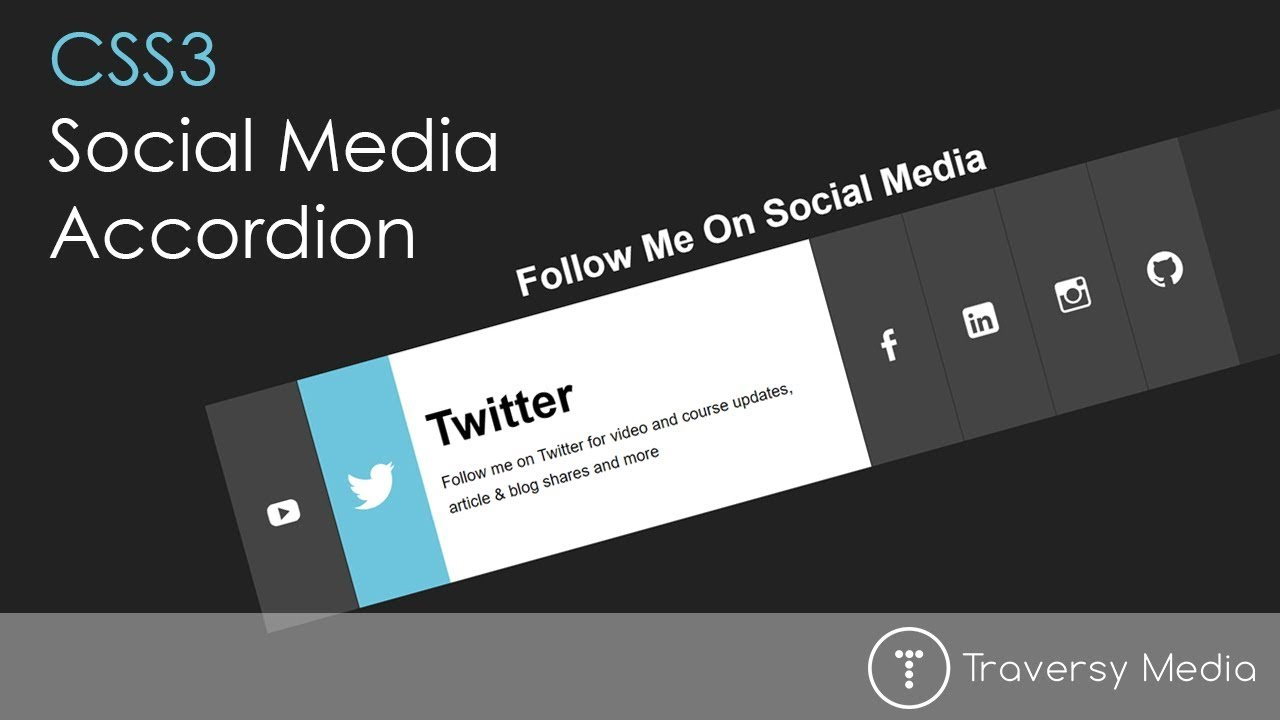 Social Media Accordion With CSS3 Transitions – Your Guide to Free