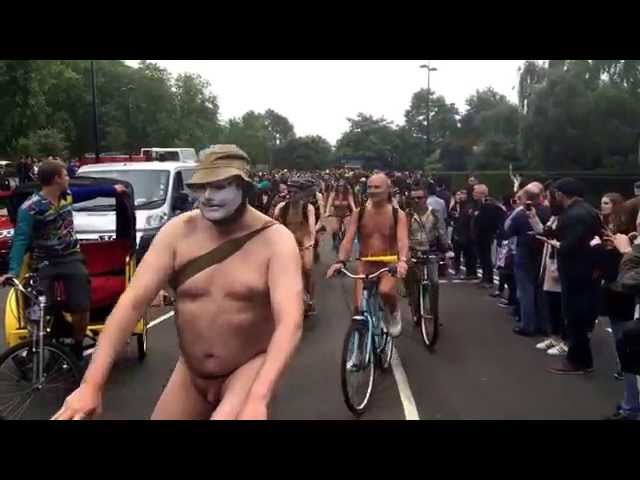 Naked Bike Ride, London 2015