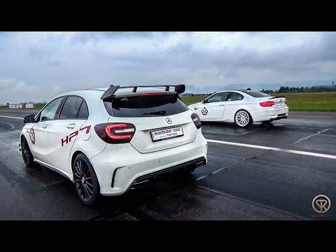 Mercedes-Benz A45 AMG VS BMW M3 G-Power E92 - DRAG RACE!