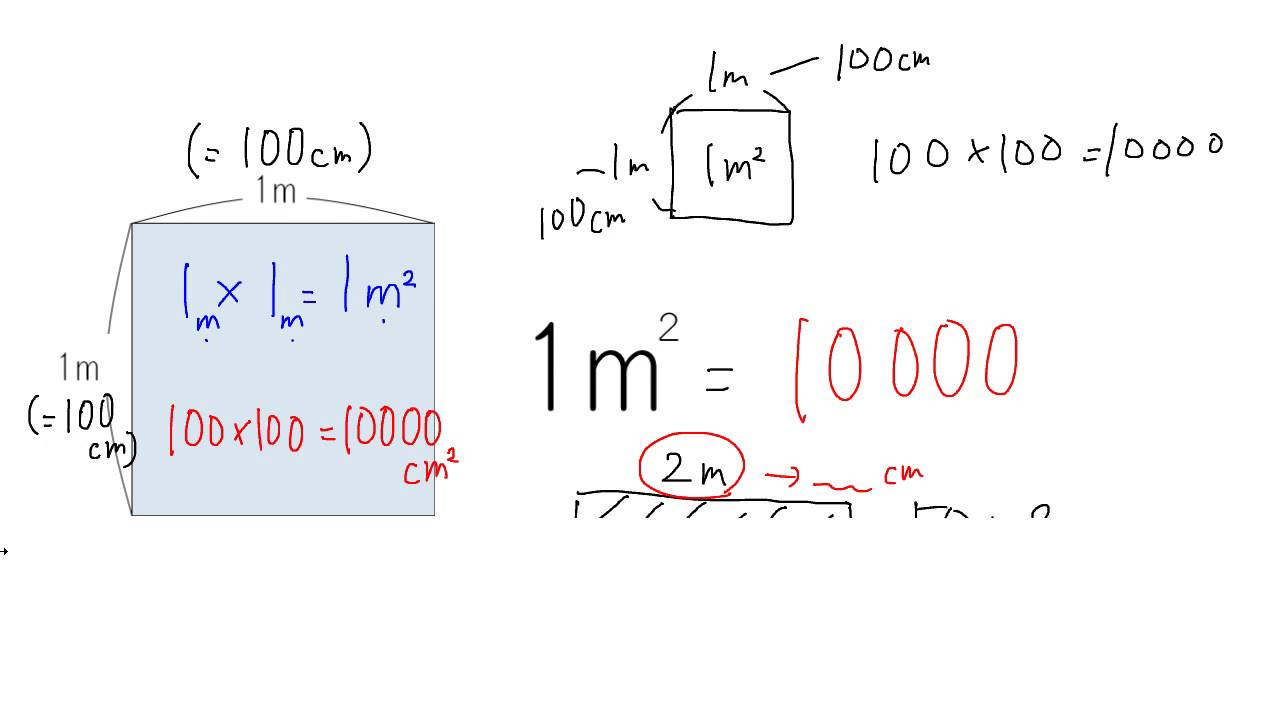 一 平方メートル は 何 センチ メートル