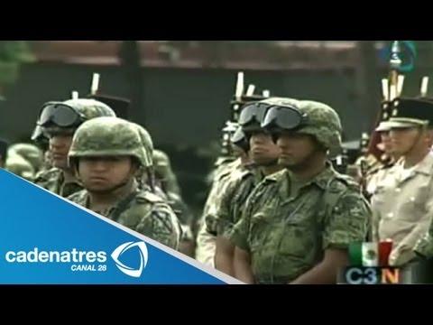 Ejército mexicano alista desfile militar del 16 de septiembre
