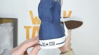 Converse All Star Hi Top - Navy - Walktall   Unboxing   Hands on