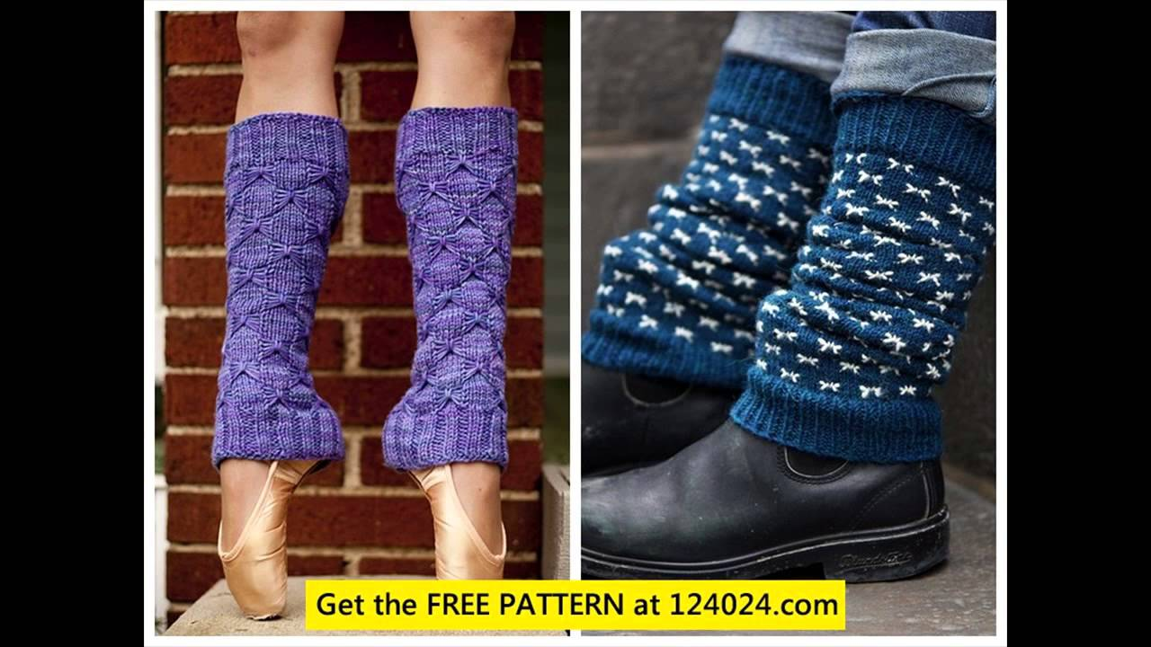leg warmer knitting pattern - YouTube