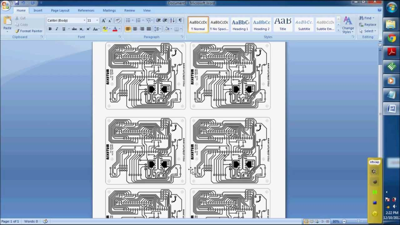 How to make Diptrace PCB Design Print to Paper - YouTube