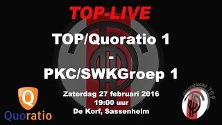 TOP/Quoratio 1 tegen PKC/SWKGroep 1, zaterdag 27 februari 2016
