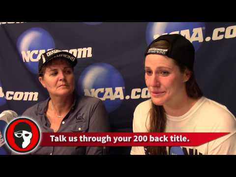 Missy Franklin and Teri McKeever reflect on NCAA Team Championship