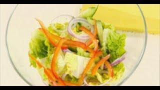 Салат из огурца, сладкого перца и салата - легкий гарнир к мясу рецепт от шеф-повара / Илья Лазерсон