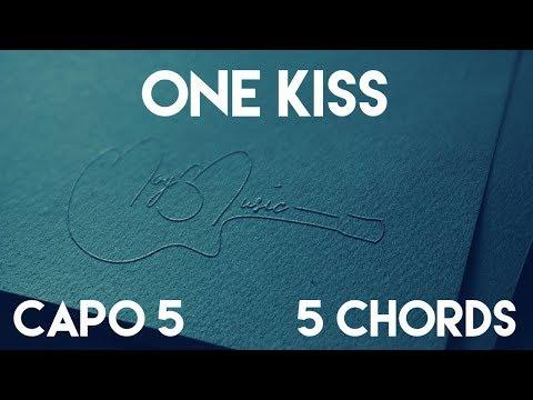How To Play One Kiss by Calvin Harris, Dua Lipa | Capo 5 (5 Chords) Guitar Lesson