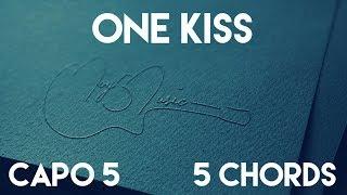 Download Lagu How To Play One Kiss by Calvin Harris, Dua Lipa   Capo 5 (5 Chords) Guitar Lesson Mp3