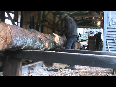 sawing white pine with a 1923 ireland mill