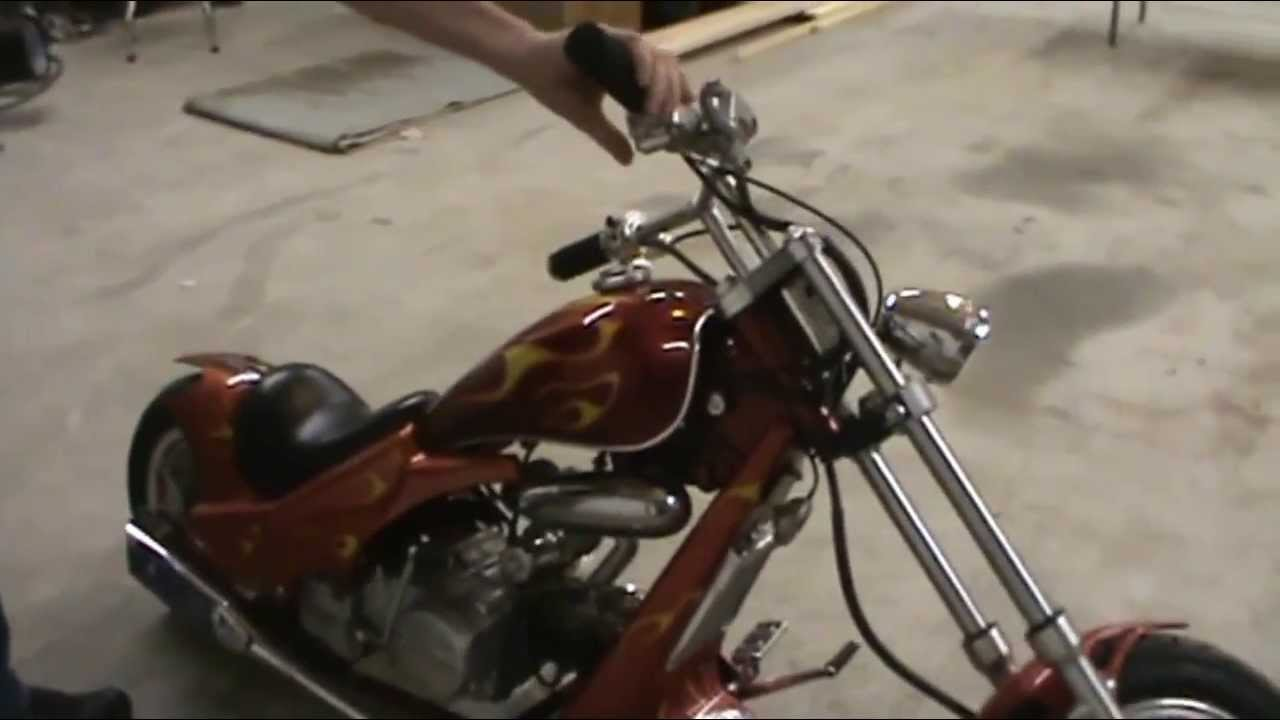 Mini chopper and carb cleaning and adjustment  YouTube