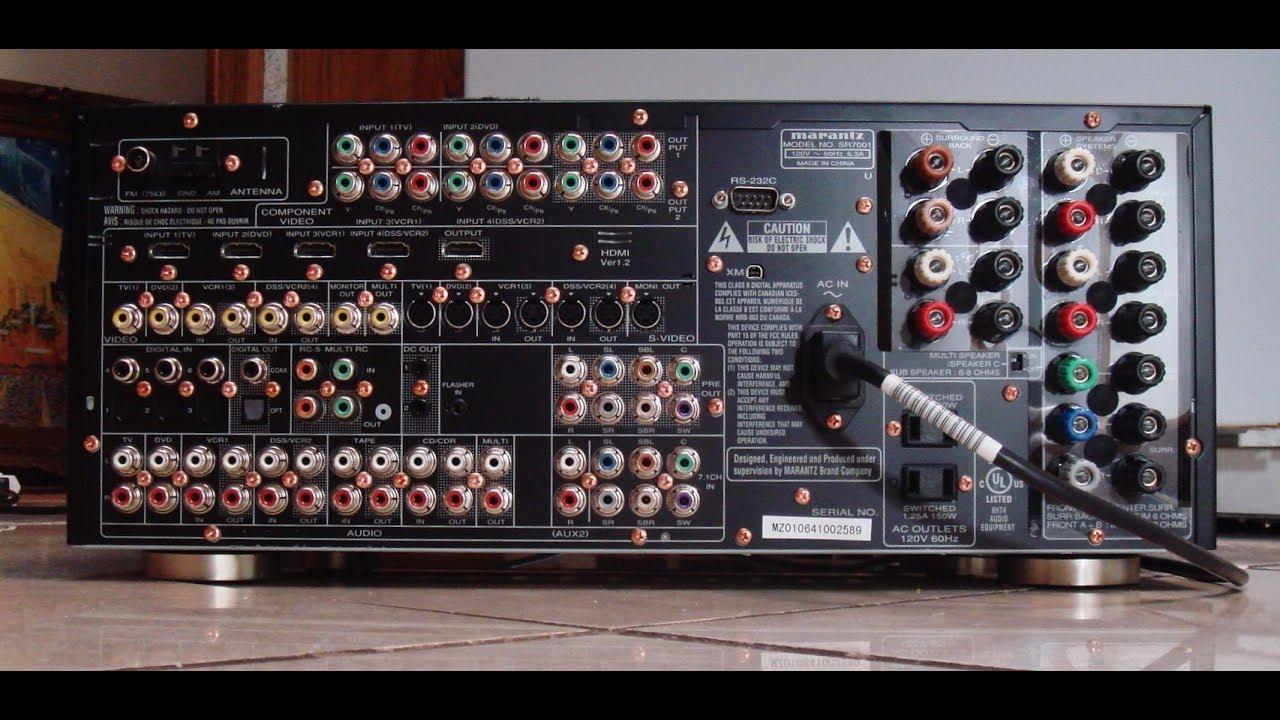How Sound MARANTZ SR 7001 71 Channel Theater Receiver W HDMI XM Ready