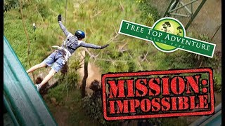 TRYING OUT TREE DROP FOR THE FIRST TIME - TREE TOP ADVENTURE, BAGUIO PHILIPPINES