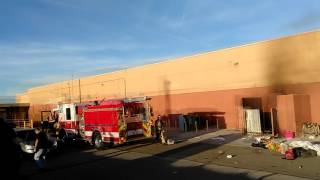 Old Target Location Dumpster Enclosure Fire (victorville, Ca)