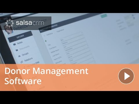 Donor Management Software in Salsa CRM