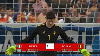 France vs Belgium I Semi Final FIFA World Cup 2018 I PES 2018 Penalty Shootout