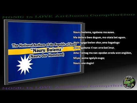 "Nauru National Anthem ""Nauru Bwiema"" INSTRUMENTAL with lyrics"