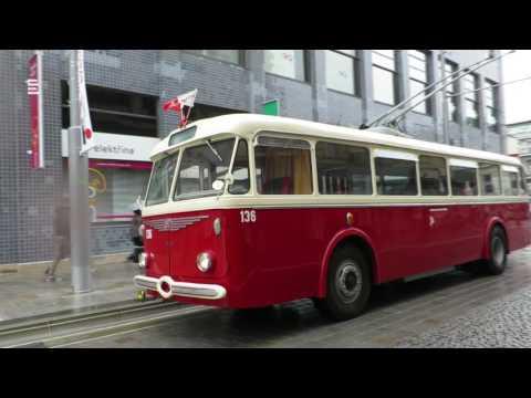 Zkušební jízda trolejbusu Tr 8 v Pardubicích