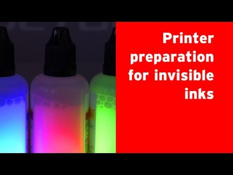 How to prepare a printer for invisible inks ?