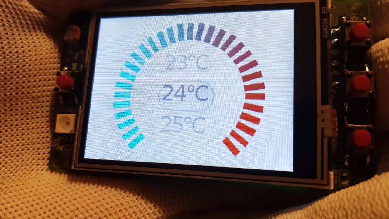 ESP32 thermostat touch GUI