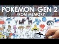 DRAWING ALL POKEMON FROM MEMORY (GEN 2)