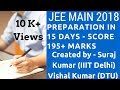 Jee Main 2018 Preparation in 15 days - Score 190+ marks in Jee Mains 2018