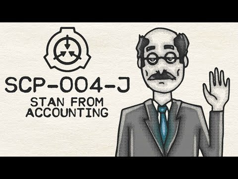 SCP Illustrated Collab 🎨 : SCP-004-J - Stan from Accounting : Object Class - Thaumiel