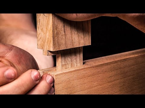 How to cut a MORTICE AND TENON JOINT by HAND