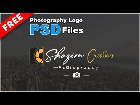 Photography Signature Logo Design PSD File Free Download thumbnail