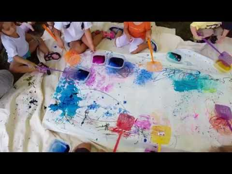 Art in Hand - Pure Joy: Splatter Painting on a Summer Day