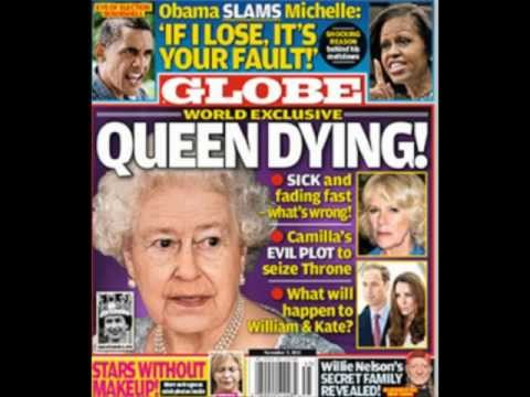 US magazine Globe claims Queen 'is dying and Camilla